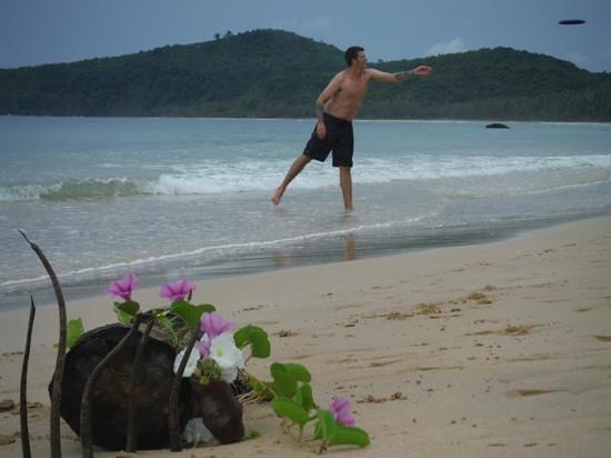 Bulskamp Inn: frisbee at the beach