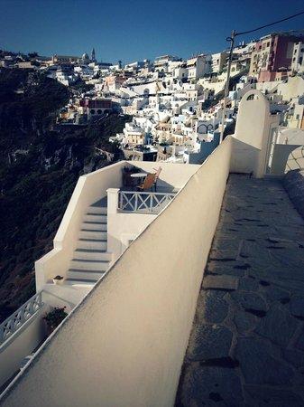 Archontiko Santorini : Вид с терасы