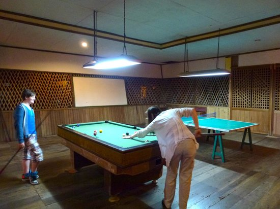 Rimba Orangutan Eco Lodge: Games area in the lounge