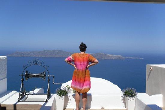 Afroessa Hotel: vue de la terrasse de la chambre