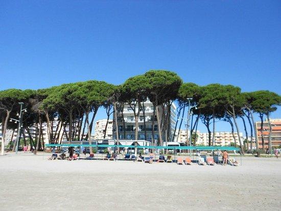 Hotel Terramarina: Hotel desde la playa