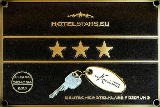 Hotel Garni Kupferhammer: Zertifikat / Certificate