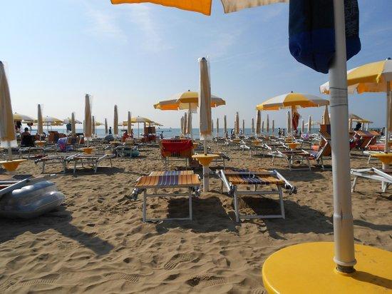 Hotel Tritone: Spiaggia
