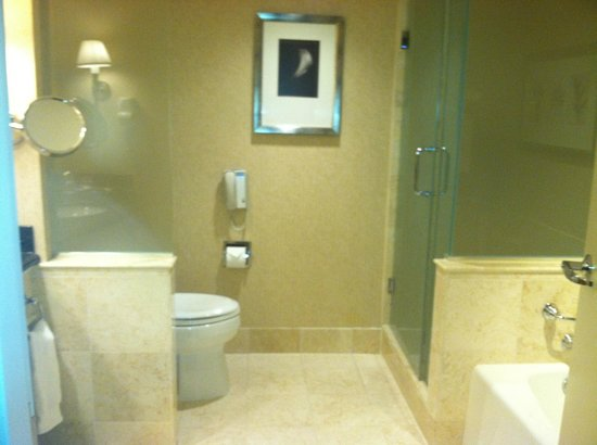 InterContinental Hotel Cleveland: Bathroom with tub/separate shower