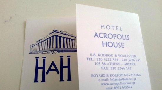 Hotel Acropolis House: Carte