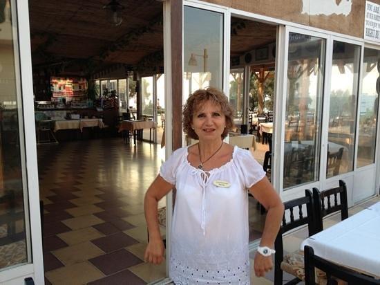 Restaurant Creta: хозяйка заведения