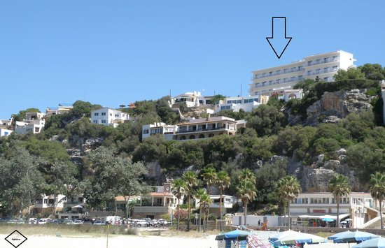 Hotel Playa Azul: Hotel (from the beach)