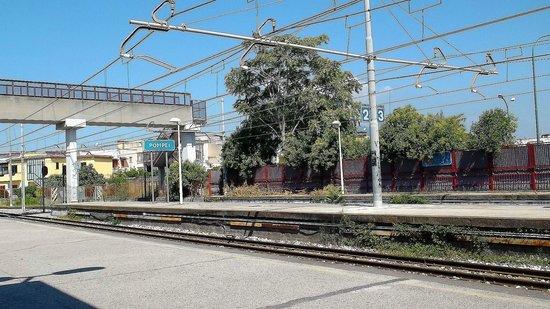 Ristorante Pizzeria Carlo Alberto: The train station of Pompei (modern Pompei) The old one is spelled 'Pompeii'
