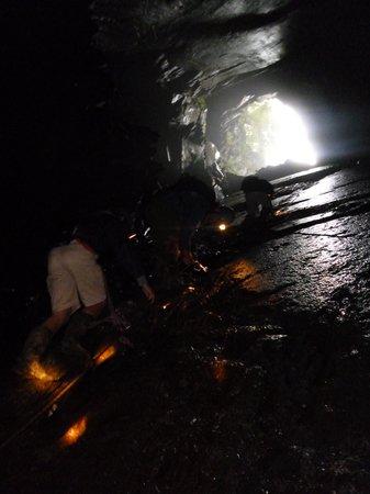 Corris Mine Explorers: Climb out of cave