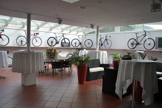 Hotel Colorado Lugano : Bicycle showroom at the hotel