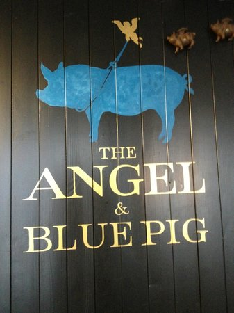 The Angel & Blue Pig: Sign for the hotel
