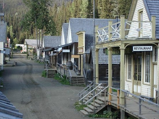 Barkerville Historic Town: Main Street at sunrise