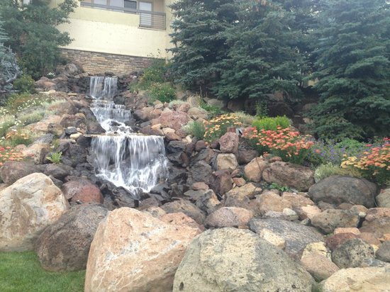 The Elevation Hotel & Spa: waterfall on grounds
