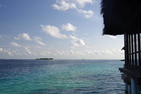 Coco Bodu Hithi: View out of escape water villa