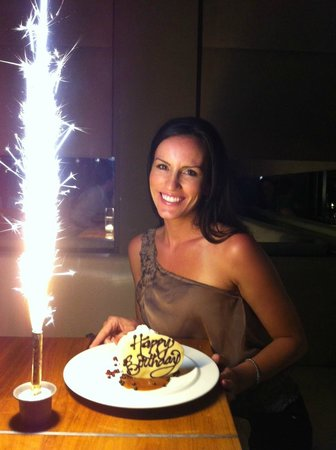 Boa Brandy Bday Cake And Really Cool Sparkler