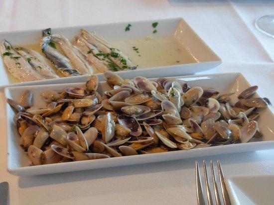 L'Ancora Restaurant : Boquerones, tallarinas