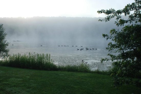 Fieldstone Farm: Lake on the grounds in the morning