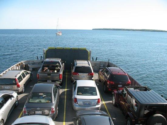 Washington Island Ferry Line: On the ferry heading back to the mainland