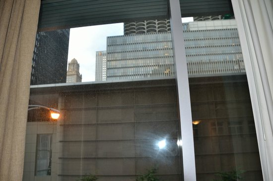 Kinzie Hotel: View from room 212. Notice the dirt on window.