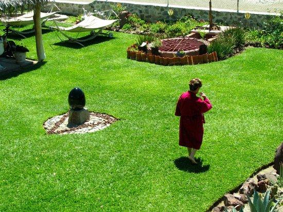 Hotel Balneario San Juan Cosala: Áreas verdes SPA TLALOCAN