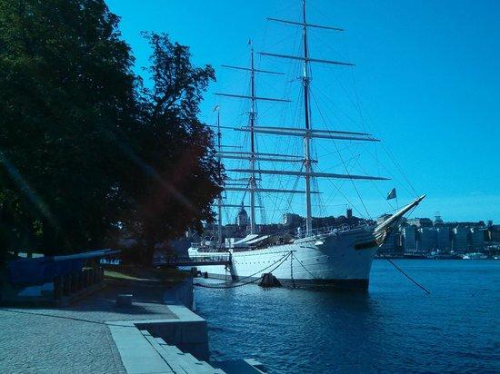 STF af Chapman & Skeppsholmen Hostel : voilier Af Chapman