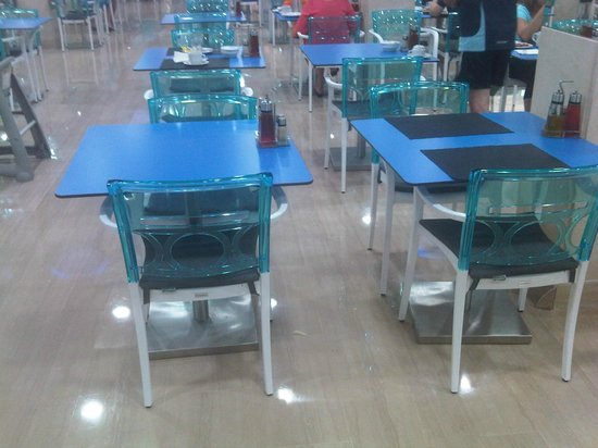 Mobiliario del comedor (parece una terrazita de bar ...