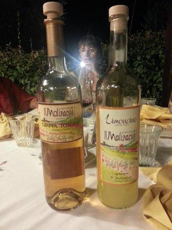 Podere Cortesi Agriturismo Il Molinaccio : Limoncello and Grappa