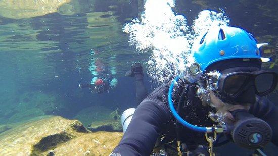 Sidemount cave diving