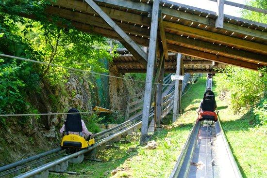 Sommerrodelbahnen Pottenstein: shot from the track