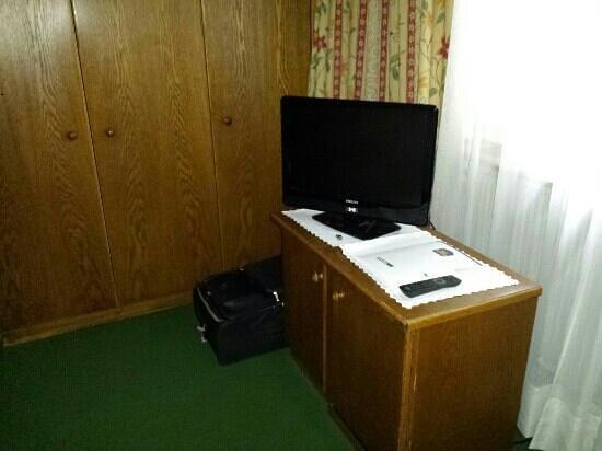 Hotel Gruner Baum : Minibar und Tv
