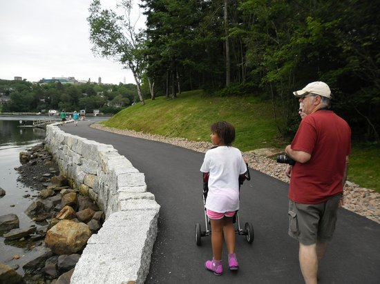 Sir Sandford Fleming Park Trail: One of the nicely paved walking paths