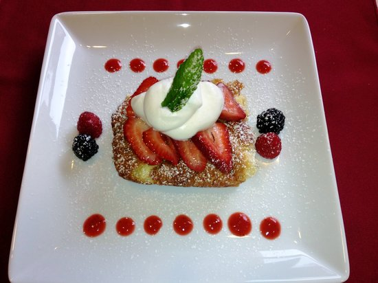 Westport Bayside Bed & Breakfast: Lemon Cream Cheese French Toast