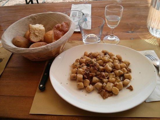 Malga Albi: Gnocchi di polenta, buonissimi!!!