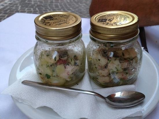 Trattoria Osteria Sara : marmellatina di polipo con patate