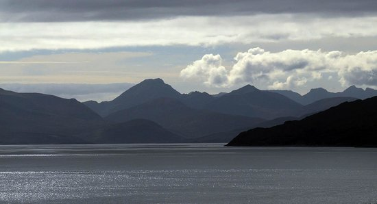 The view towards Skye from Kishorn Seafood Bar