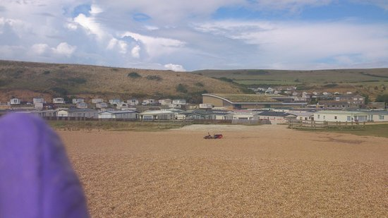Freshwater Beach Holiday Park: view from cliff top