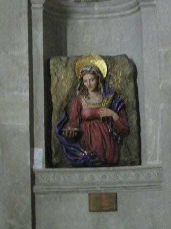 Chiesa di San Geremia: St. Lucy plaque inside of the church.