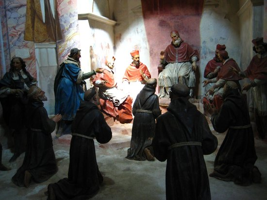 Sacro Monte di Orta: A scene in the life of Saint Francis of Assisi