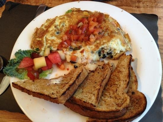 James' Breakfast and More: Mexican omelet!