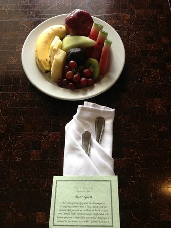 Secrets Wild Orchid Montego Bay: Our welcome snack