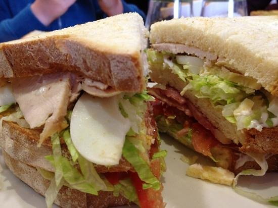 The Deli : now this is the best deli club sandwich I've ever had!