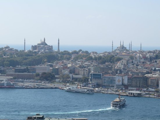 The Golden Horn, Hagia Sophia, Blue Mosque from the Galata Tower