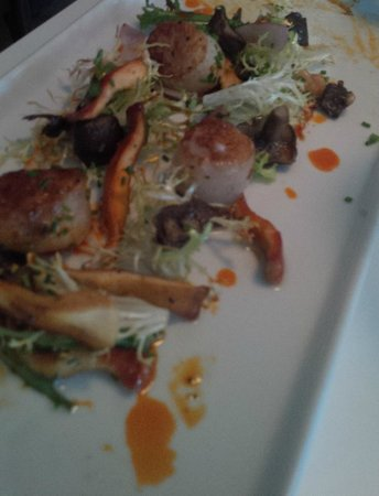 Public Kitchen & Bar : Scalloped with foraged mushrooms
