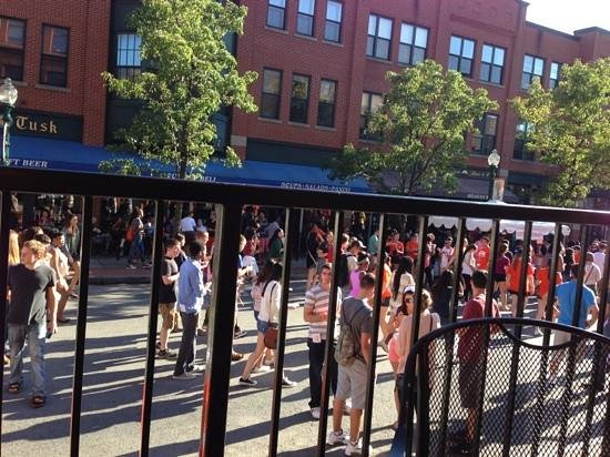 Empire Brewing Company: view from balcony- street fair taking place today