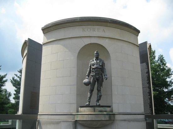 West Virginia Veterans Memorial : Korean War side of the memorial