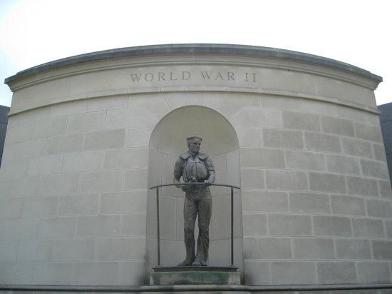 West Virginia Veterans Memorial : World War 2 side of the memorial