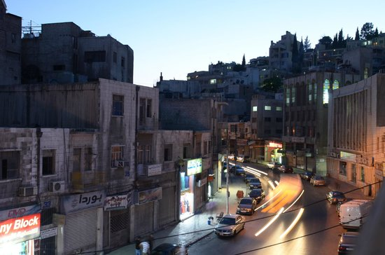 The Boutique Hotel Amman: View from our hotel room balcony