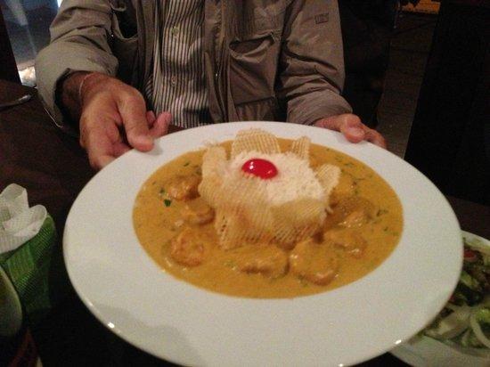 Manjar dos Deuses: Prawn curry