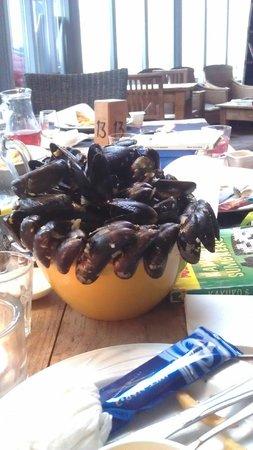 De Marlijn: So many mussels in the pan! We had te be creative...