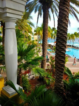 Curacao Marriott Beach Resort & Emerald Casino: View from the reception area.